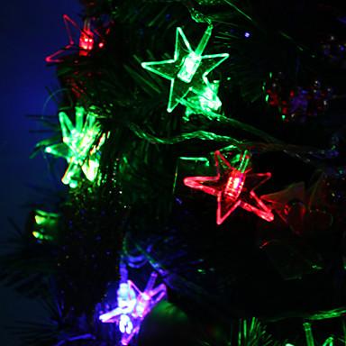 7m 30 liderliğindeki Luckystar şeklindeki renkli ışık festivali dekorasyon (220v) için şerit peri lamba led