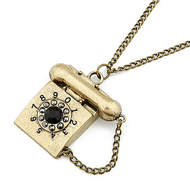 Retro Phone Alloy Necklace