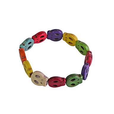 Dames Strand Armbanden Legering Doodshoofdvorm Regenboog Sieraden Voor Feest Dagelijks Causaal 1 stuks