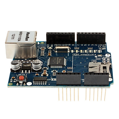 Tavola shield Ethernet W5100 per Arduino