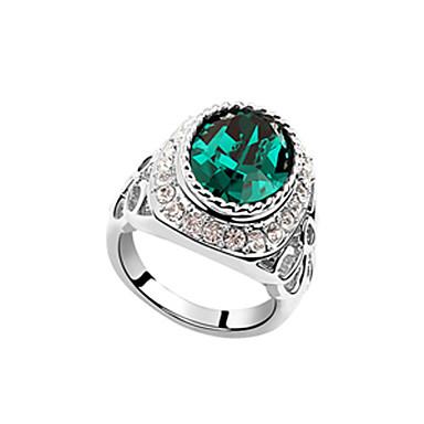 anillo grande de la moda de cristal redonda