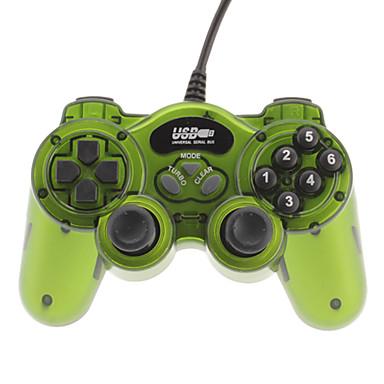 Classic Double Shock 2 USB проводной контроллер для ПК (зеленый)
