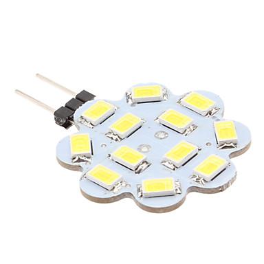 1.5W 6000lm G4 LED Bi-pin Işıklar 12 LED Boncuklar SMD 5630 Doğal Beyaz 12V / #