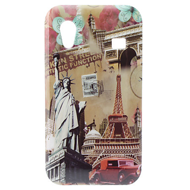 Statue of Liberty and Eiffel Tower Pattern Hard Case for Samsung Galaxy Ace S5830