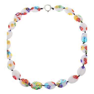 Multicolor Oval Coloured Glaze Necklace