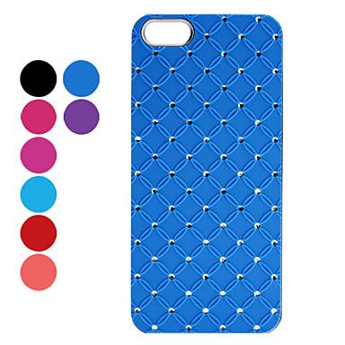 아이폰 5/5S (분류 된 색깔)를위한 낚시 그물 디자인 다이아몬드 표면에 하드 케이스