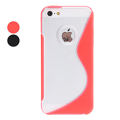 For iPhone 5 Case Shockproof Case Back Cover Case Solid Color Hard TPU iPhone SE/5s/5
