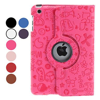 Pouzdro Uyumluluk iPad Mini 3/2/1 Satandlı 360° Dönüş Tam Kaplama Kılıf Karton PU Deri için iPad Mini 3/2/1