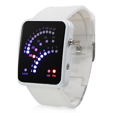 Farbe Band 29 blaue und rote LED-Bereich Muster geführt Armbanduhr