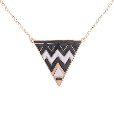 z&X® yağ damlama alaşım üçgen şekil kazak kolye