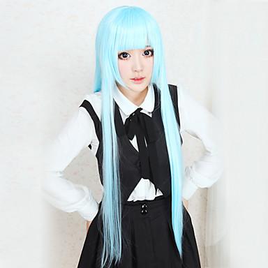 Cosplay Perukları Cosplay Kuroko Tetsuya Anime Cosplay Perukları 100 CM Isı Dirençli Fiber Kadın's