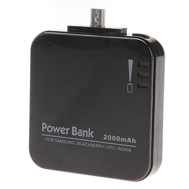 ZHIIDA Mobile Power Bank for Digital Device (Black, 2000 mAh)