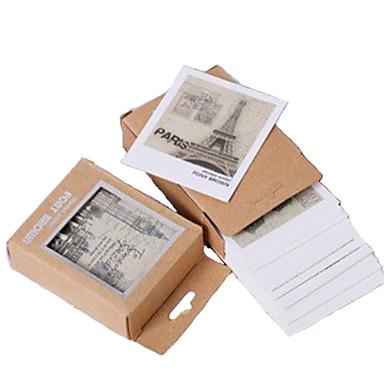 mondiale de cru des mini cartes postales fameux paysages (40 pièces)