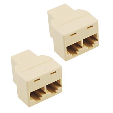 soket rj45 ayırıcı konektör cat5 cat6 lan ethernet ayırıcı adaptör (2 paketli)