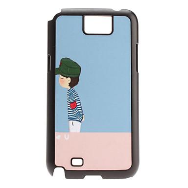 Boy Pattern Hard Case for Samsung Galaxy Note2 N7100