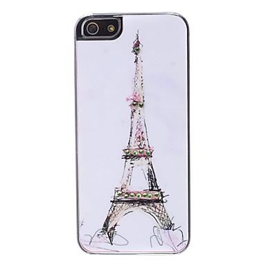 motif Tour Eiffel avec strass cas dur de conception pour l'iphone 5/5s