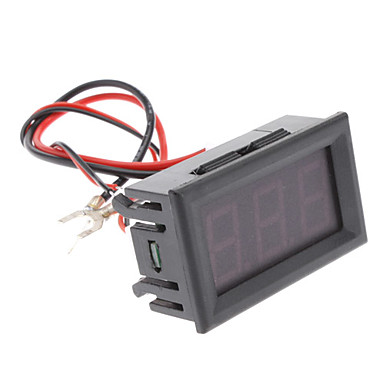 100A 3-Digit ampèremètre panneau d'affichage numérique avec résistance de shunt (Noir, DC 4 ~ 30V)