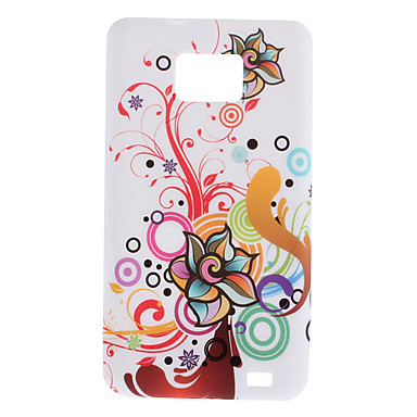 Flower Design Soft Case til Samsung Galaxy S2 I9100