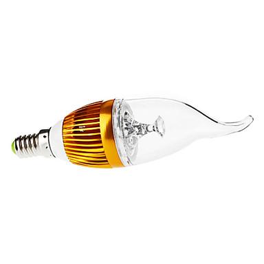 3000 lm E14 Becuri LED Lumânare CA35 3 led-uri LED Putere Mare Intensitate Luminoasă Reglabilă Decorativ Alb Cald AC 110-130V AC 220-240V