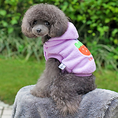 Strawberry Rabbit Pattern Coral Fleece Hoodie for Dogs (Assorted Color,XS-XL)