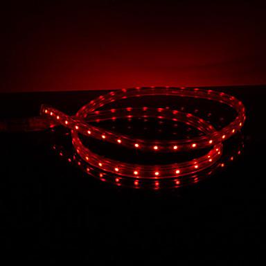 Vandtæt 3.5W / M 3528 SMD Red Light LED Strip Lamp (220V, Længde vælges)