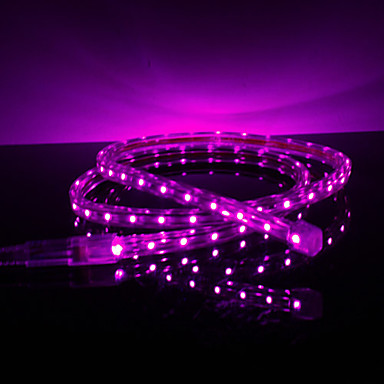 Waterproof 3.5W/M 3528 SMD Purple Light LED Strip Lamp (220V, Length Selectable)