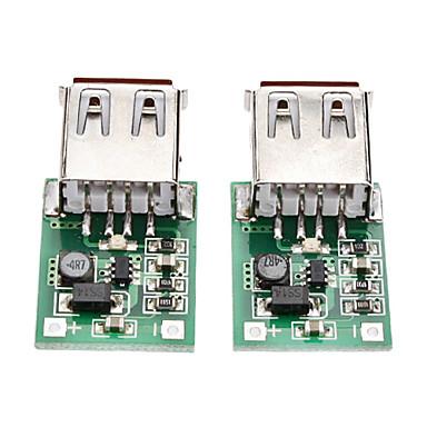2PCS DC-DC Step-Up Module(0.9V~5V) To-5V 600MA USB (Portable Charger)