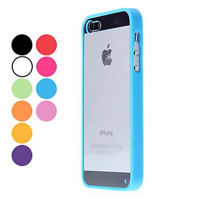 Capinha Para iPhone 5 / Apple Capinha iPhone 5 Transparente Capa traseira Côr Sólida Rígida PC para iPhone 5