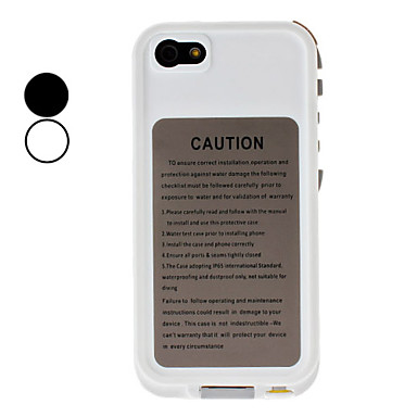 Ultra-slanke en slanke waterdichte beschermende Full Body Case met koptelefoon converter kabel voor iPhone 5