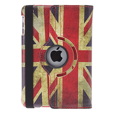 Roterbart Design Retro UK Flag Pattern PU Leather Case med stativ for iPad mini