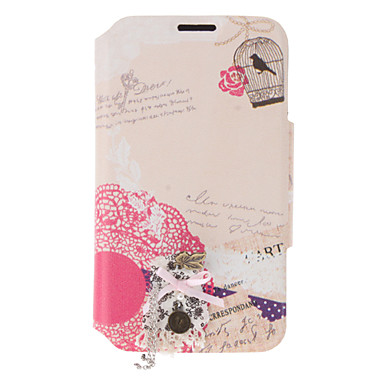 Maple Leaf Pattern PU Leather Case with Stand and Card Slot for Samsung Galaxy Note 2 N7100