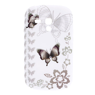 Butterfly Pattern Soft Case for Samsung Galaxy S3 Mini I8910