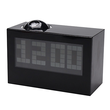 digitaalinen herätyskello kalenteri aika projektorin (musta, 3xaaa)