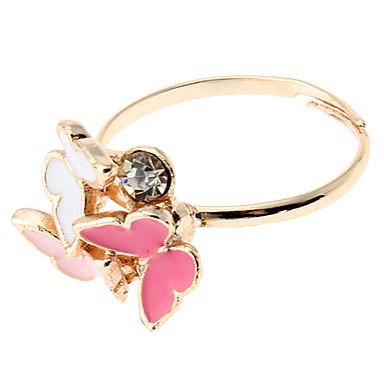 z&temperamento x® fusión anillo de mariposa de colores de moda