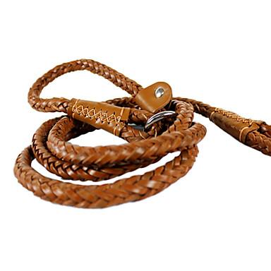 Koirat Talutushihnat Käsintehty Maalattu / Ruskea Genuine Leather
