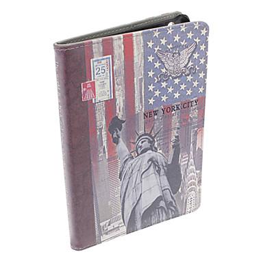 statua della libertà cuoio dell'unità di elaborazione caso di corpo pieno w / stand per iPad mini 3, Mini iPad 2, ipad mini