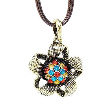 Vintage Zircon Short Alloy Necklace