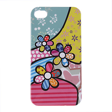Colorful Beautiful Flower Pattern Protective Hard Case for iPhone 4/4S