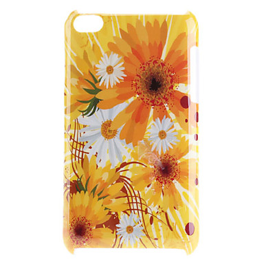 Yellow Flower Pattern Hard Case for iPod Touch 4