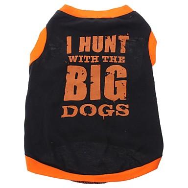 Köpek Tişört Köpek Giyimi Harf & Sayı Siyah Pamuk Kostüm Evcil hayvanlar için
