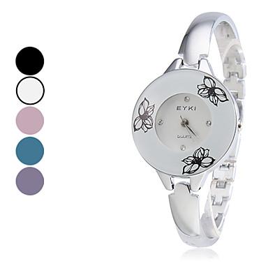 Mujeres aleación analógico reloj pulsera de cuarzo (Negro)