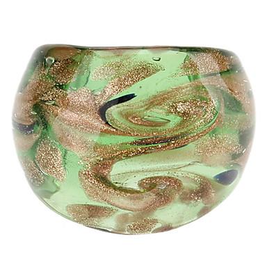 Hoja de oro del extracto del modelo del estilo del anillo coloreado del esmalte