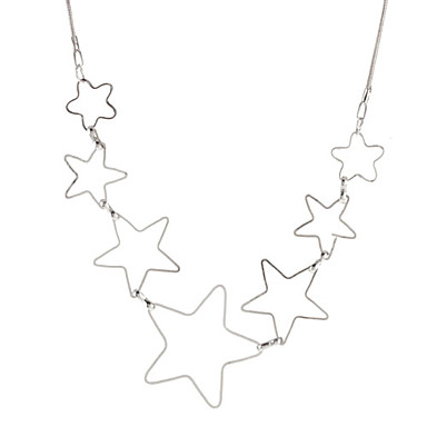 Hollow Out Five-pointed Star Alloy Necklace