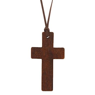 Krzyż Uçlu Kolyeler Deri Tahta Uçlu Kolyeler , Günlük