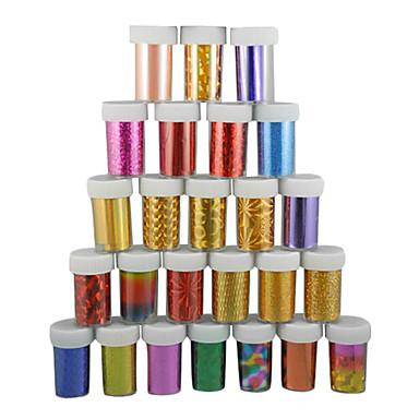 1 pcs Folyo sıyırma bandı Tırnak Tasarımı Tasarımı Soyut / Moda Günlük / Plastik