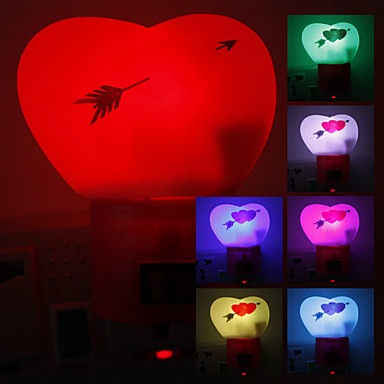 Sweet Heart Shaped fargeendringen LED Night Light (220V)