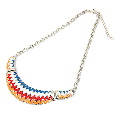 Waves Drip Short Alloy Necklace