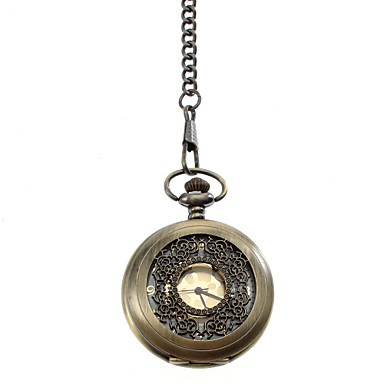 Unisex Alloy Analog Quartz Pocket Watch (Bronze)