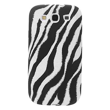 Zebra Stripe modello caso molle di TPU per Samsung Galaxy S3 I9300