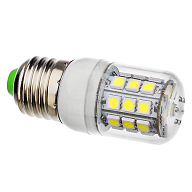 3.5W 250-300lm E26 / E27 LED Mısır Işıklar 30 LED Boncuklar SMD 5050 Doğal Beyaz 220-240V / 110-130V